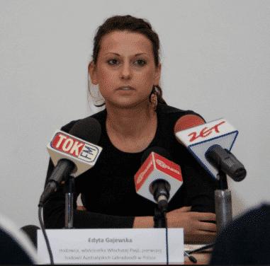 Edyta Gajewska konferencja prasowa